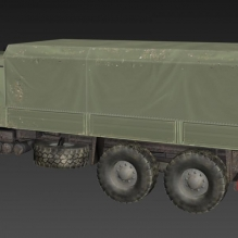 运兵车-汽车-军事汽车-CG模型-3D城