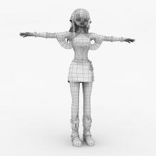 可爱女孩-人物_角色-小孩-CG模型-3D城