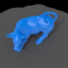 华尔街公牛-动物-哺乳动物-CG模型-3D城