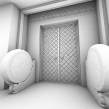 大门-室外建筑-住宅-CG模型-3D城