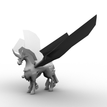 火马-动物-科幻-CG模型-3D城
