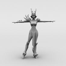 女武神-人物_角色-小孩-CG模型-3D城