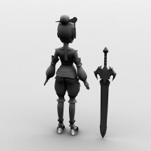 魔剑与小女孩-人物_角色-小孩-CG模型-3D城