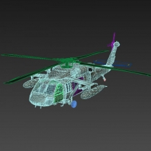 Sikorsky UH-60 Utility Helicopter-飞机-直升机-CG模型-3D城