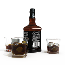 酒瓶-食品-饮料-CG模型-3D城