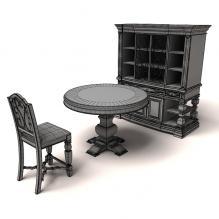 欧式家具-家居-桌椅-CG模型-3D城