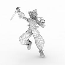 可露露-人物_角色-小孩-CG模型-3D城