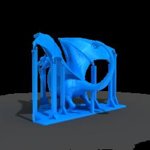 龙-动物-科幻-3D打印模型-3D城