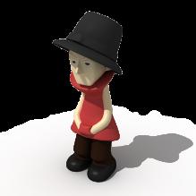 戴帽子男孩-人物_角色-小孩-CG模型-3D城