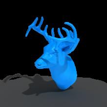 鹿头-艺术-3D打印模型-3D城