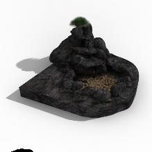 室外假山-植物-其它-CG模型-3D城