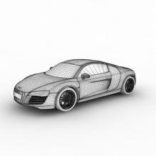 奥迪r8跑车-汽车-家用汽车-CG模型-3D城