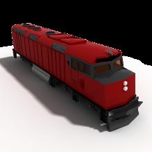 火车-汽车-火车-CG模型-3D城