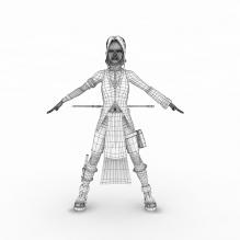 古典女武士-人物_角色-角色-CG模型-3D城