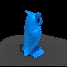 猫头鹰项链-生活办公用品-服装饰品-3D打印模型-3D城