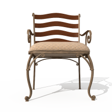 铁艺皮座椅子