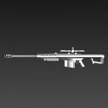 狙击步枪-飞机-军事飞机-CG模型-3D城
