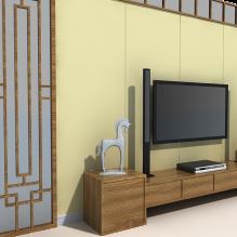 电视墙-室内建筑-卧室-CG模型-3D城