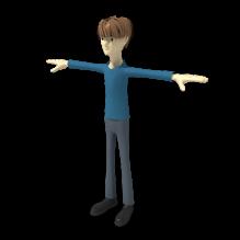 小男孩-人物_角色-小孩-CG模型-3D城