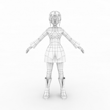卡通女-人物_角色-小孩-CG模型-3D城