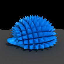 爱说话的刺猬-动物-3D打印模型-3D城