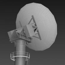 卫星信号塔-军事_武器-其它-CG模型-3D城