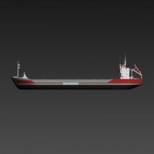 货轮-船舶-工业船舶-CG模型-3D城
