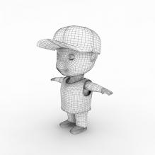小孩子-人物_角色-小孩-CG模型-3D城