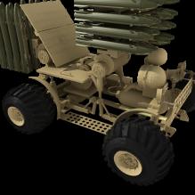 导弹发射车-汽车-军事汽车-CG模型-3D城