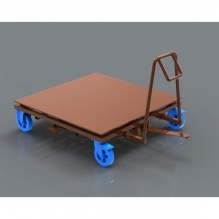 transportation-cart-with-rotary-table-and-braking-system