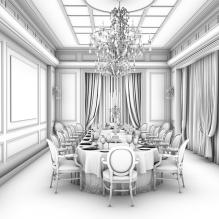 工装-室内建筑-商业_办公-CG模型-3D城