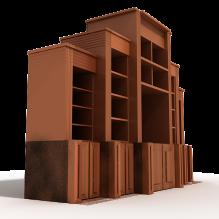 电视机矮柜-家居-柜子-CG模型-3D城