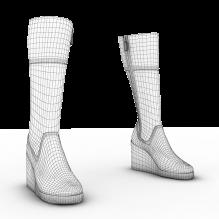靴子-生活办公用品-服装饰品-CG模型-3D城