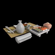 日本料理-食品-其它-CG模型-3D城