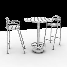 休闲桌椅-家居-桌椅-CG模型-3D城