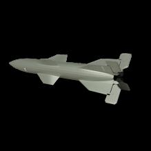 现代导弹-军事_武器-火箭-CG模型-3D城