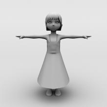小女孩-人物_角色-小孩-CG模型-3D城