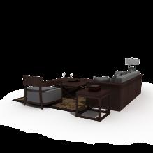 沙发茶几-室内建筑-客厅-CG模型-3D城