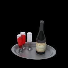 托盘红酒酒杯