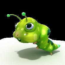 毛毛虫-动物-昆虫-CG模型-3D城