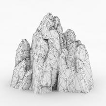 山体-植物-其它-CG模型-3D城