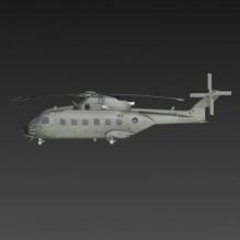 运输直升机-飞机-军事飞机-CG模型-3D城