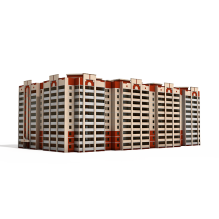 学生公寓-室外建筑-住宅-CG模型-3D城