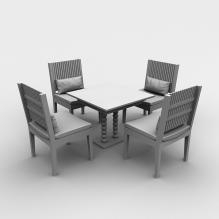 餐桌椅-室内建筑-餐厅-CG模型-3D城