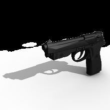 意大利巴莱塔手枪-军事_武器-枪-CG模型-3D城
