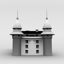 古堡-室外建筑-古建筑-CG模型-3D城