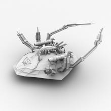 异形飞船-军事_武器-科幻-CG模型-3D城