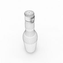 欧式啤酒瓶-食品-饮料-CG模型-3D城