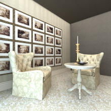 酒店休息区-室内建筑-酒店-CG模型-3D城