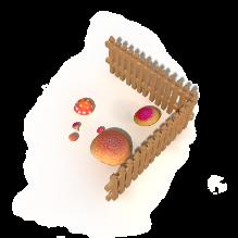 蘑菇-食品-蔬菜-CG模型-3D城